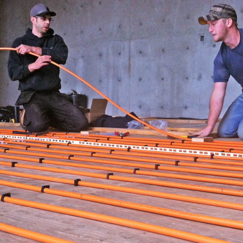 radiant floor installation by Southwest Solar